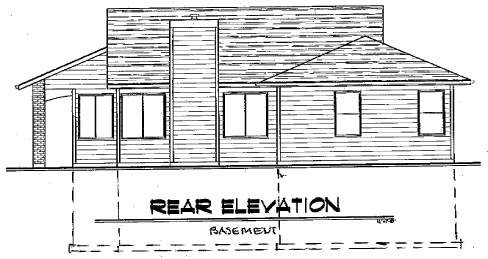 Traditional House Plan 91021 Rear Elevation