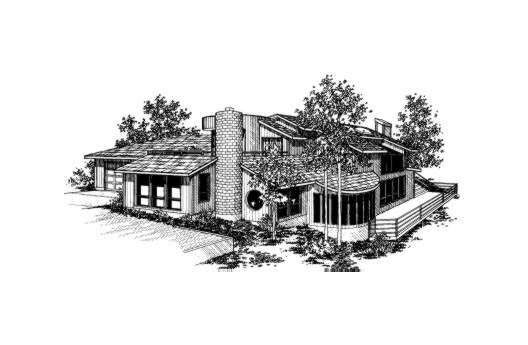 Contemporary House Plan 91022 Elevation