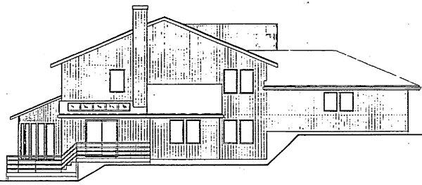 Contemporary House Plan 91022 Rear Elevation