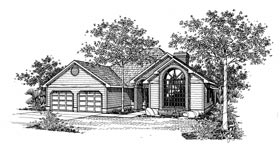 Contemporary House Plan 91027 Elevation
