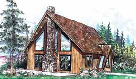 A-Frame Contemporary House Plan 91033 Elevation