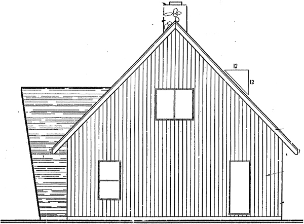 A-Frame Contemporary House Plan 91033 Rear Elevation