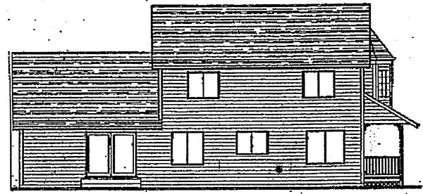 Farmhouse Victorian House Plan 91053 Rear Elevation