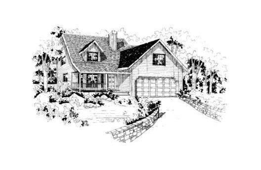 Country Traditional House Plan 91055 Elevation