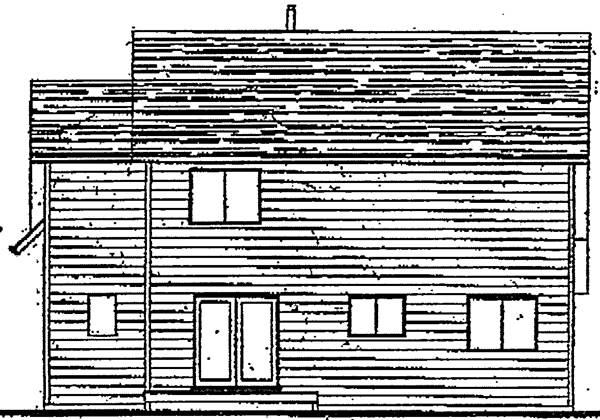 Country Traditional House Plan 91055 Rear Elevation