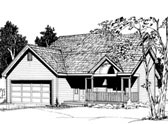 Plan Number 91080 - 1447 Square Feet