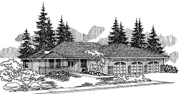 Southwest House Plan 91084 Elevation
