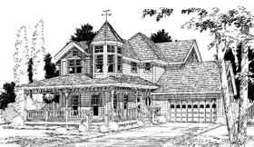 Farmhouse Victorian House Plan 91095 Elevation