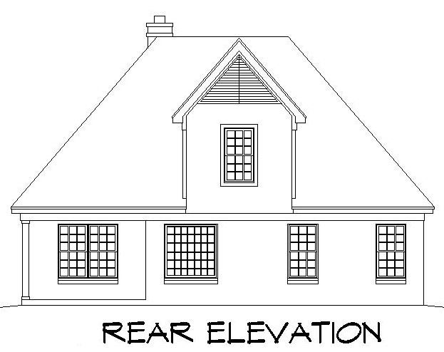 Traditional House Plan 91102 Rear Elevation