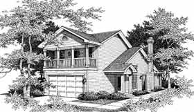 Country House Plan 91114 with 3 Beds, 2 Baths, 2 Car Garage Elevation