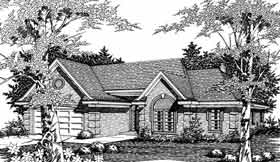 Traditional House Plan 91115 with 3 Beds, 2 Baths, 2 Car Garage Elevation