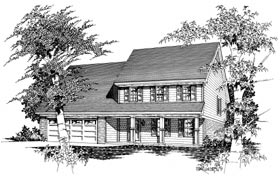 Colonial Country House Plan 91150 Elevation