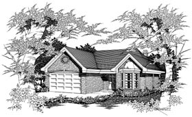 Ranch House Plan 91155 Elevation