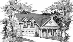 Country House Plan 91160 with 3 Beds, 3 Baths, 2 Car Garage Elevation
