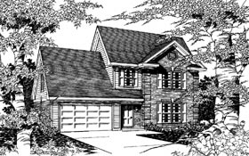 Country House Plan 91176 with 3 Beds, 3 Baths, 2 Car Garage Elevation