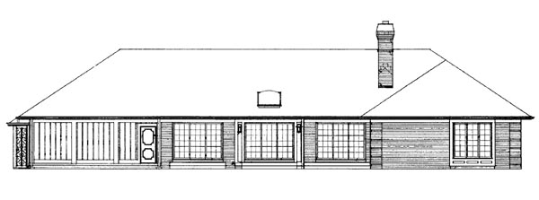 Ranch House Plan 91201 Rear Elevation