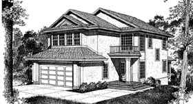 Traditional House Plan 91243 with 3 Beds, 3 Baths, 2 Car Garage Elevation