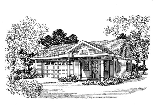Garage Plan 91245 Elevation
