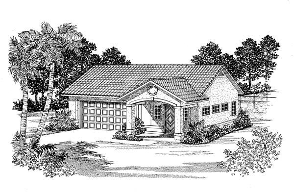 2 Car Garage Apartment Plan 91246 Elevation