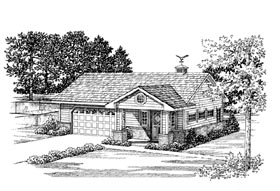 Garage Plan 91248 Elevation