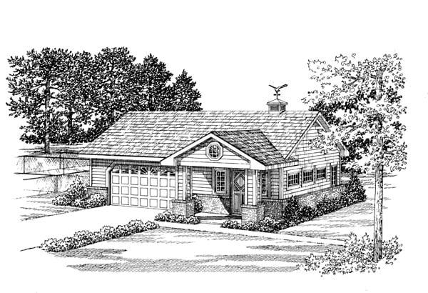 Garage Plan 91248 Elevation