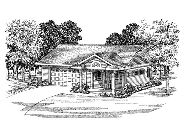 2 Car Garage Apartment Plan 91250 Elevation