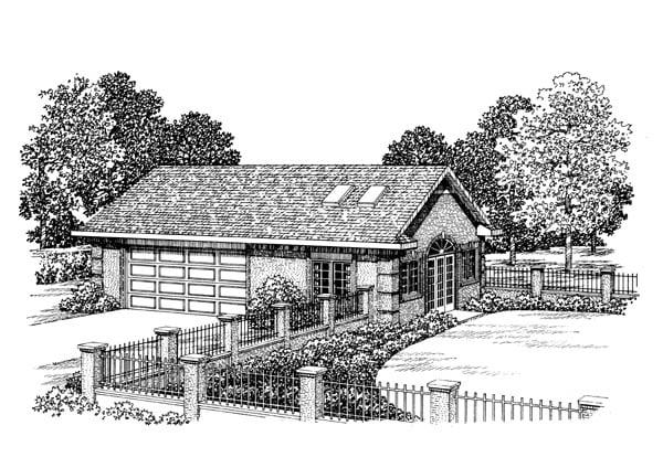 Garage Plan 91253 Elevation