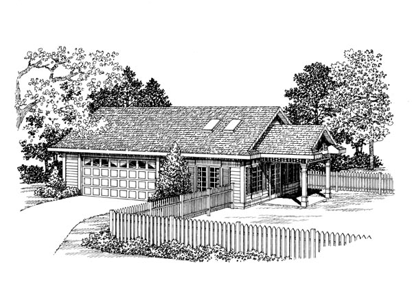 2 Car Garage Apartment Plan 91254 Front Elevation