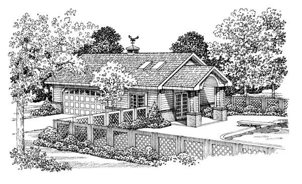 Garage Plan 91256 Elevation