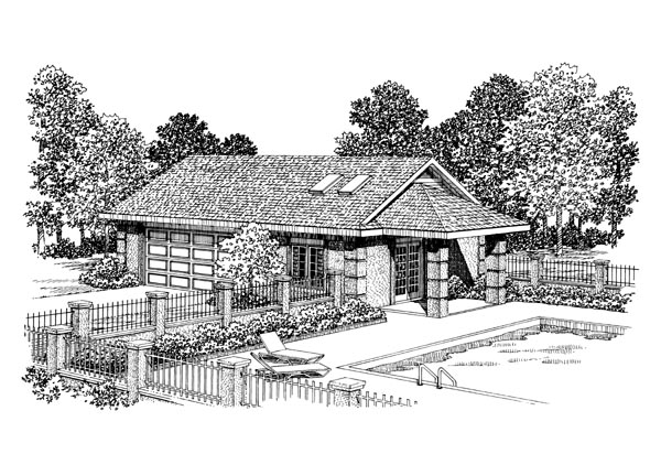 Garage Plan 91257 Elevation
