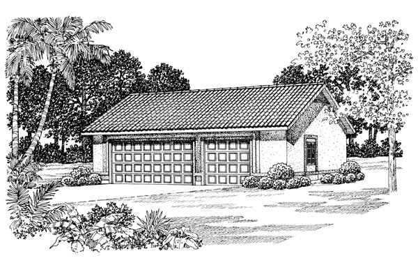 Garage Plan 91259 Elevation