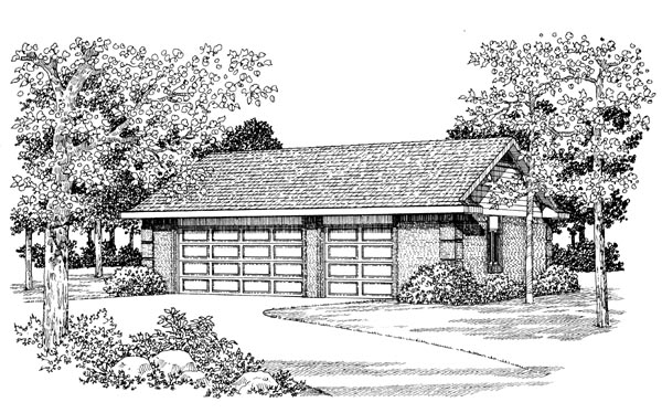 Garage Plan 91261 Elevation