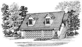 Garage Plan 91266 Elevation