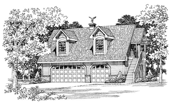 Garage Plan 91267 Elevation