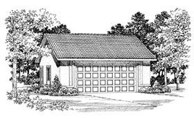 Garage Plan 91270 | Style Plan, 2 Car Garage Elevation