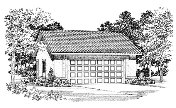 Garage Plan 91270 Elevation