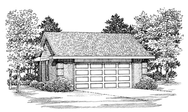 Garage Plan 91272 Elevation