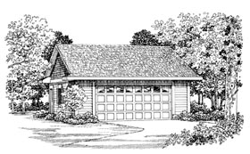 Garage Plan 91273 | Style Plan, 2 Car Garage Elevation