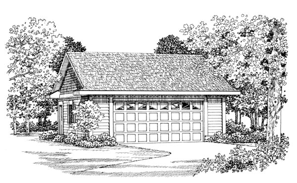 Garage Plan 91273 Elevation