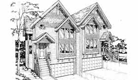 Country, Craftsman Multi-Family Plan 91321 with 6 Beds, 6 Baths, 4 Car Garage Elevation