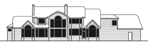 Traditional House Plan 91339 Rear Elevation