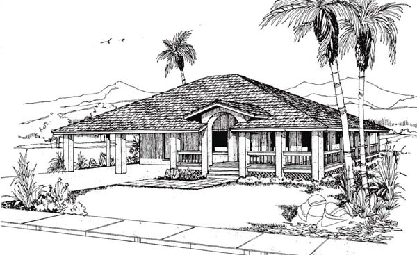 Florida Mediterranean House Plan 91340 Elevation