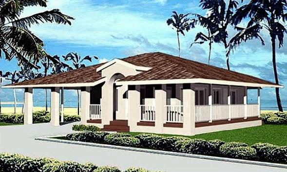 Florida mediterranean house plan 91340 for Florida mediterranean house plans