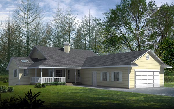 Country Ranch House Plan 91601 Elevation