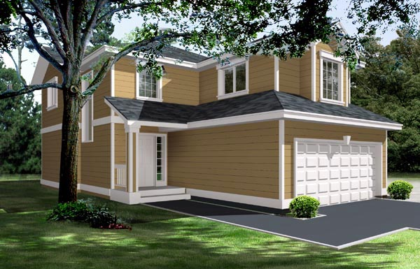 Traditional House Plan 91603 with 3 Beds, 3 Baths, 2 Car Garage Elevation