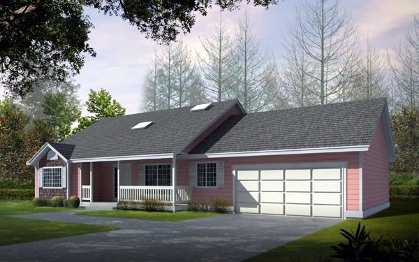 Ranch House Plan 91605 Elevation