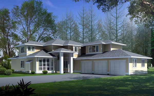Contemporary Prairie Style Southwest House Plan 91608 Elevation