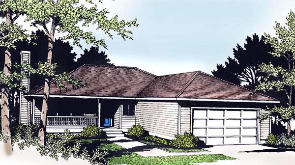 Ranch Traditional House Plan 91611 Elevation