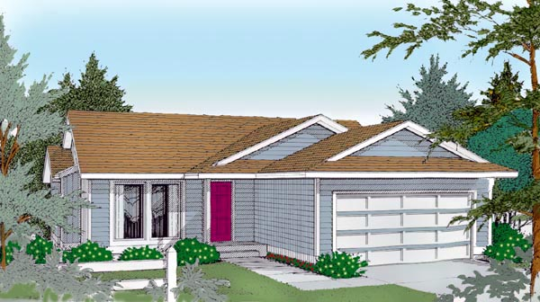 Ranch House Plan 91612 Elevation