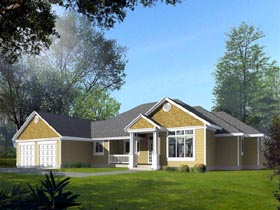House Plan 91616 | Traditional Style Plan with 3329 Sq Ft, 3 Bedrooms, 3 Bathrooms, 2 Car Garage Elevation